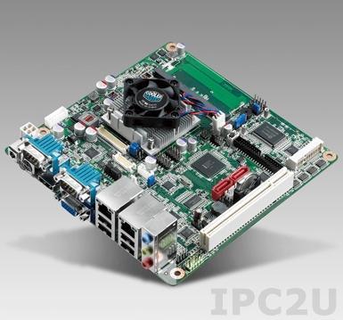 AIMB-214E-S6A2E Процессорная плата Mini-ITX Intel Atom N2550 1.86ГГц, до 4Гб DDR3 SO-DIMM, VGA, HDMI, 2xLVDS, 2xGbe LAN, 3xSATA, 6xCOM, 6xUSB, слоты расширения 1xMini-PCIe, 1xPCI