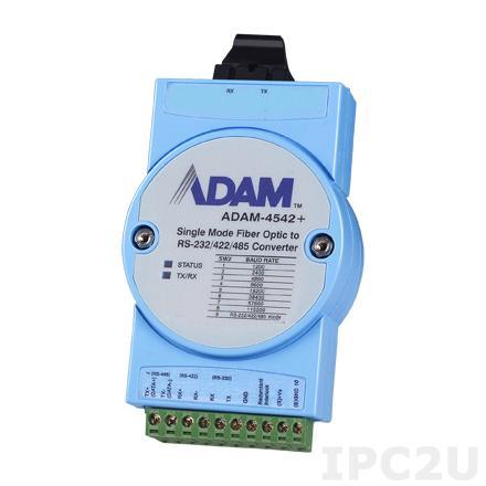 ADAM-4542+-BE Конвертер RS-232/422/485 в одномодовое оптоволокно (1310 нм, разъем SC, до 15 км)