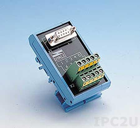 ADAM-3909-AE Плата клеммников с 9-контактным разъемом, монтаж на DIN рейку