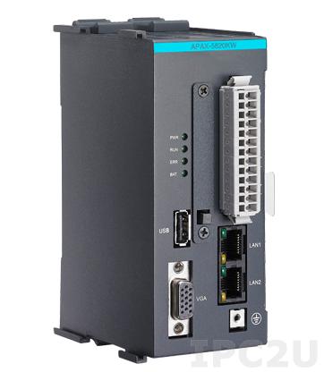 APAX-5620KW-AE PC-совместимый промышленный контроллер PXA270 520 Мгц, 32 Мб Flash, 64 Мб SDRAM, VGA, 2xRS-485, 2xEthernet, 1xUSB, 2xCAN, CompactFlash, Windows CE
