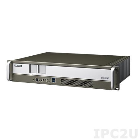 """ITA-2230S-00A1E Промышленный безвентиляторный ПК 2U в 19"""" стойку для Ж/Д, Intel Core i7-3555LE 2.5ГГц, 4Гб DDR3, 1x3.5""""/2.5"""" HDD, DVI-I, DVI-D, 2xGbE LAN, 4xUSB 3.0, 3xUSB 2.0, 2xCOM, mSATA, GPIO, Аудио, 2xITAM, PC/104+, Mini PCIe, PCI, PCIe x4, вход AC/DC, кабель"""