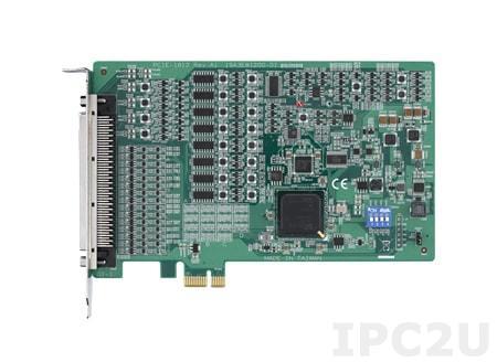 PCIE-1812-AE Плата ввода-вывода PCI Express, 250 kS/s, 16-bit, 8 каналов дифференциального аналогового ввода, 2 AO, 32 DIO, 4 счетчик/энкодер