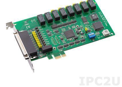 PCIE-1760-AE Плата ввода-вывода PCI Express, 8DI, 8 реле