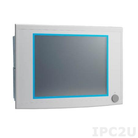 "IPPC-6172A-R2AE Панельная рабочая станция с 17"" SXGA TFT LCD, резистивный сенсорный экран, поддержка Intel Core i3/i5/i7, Intel Q87, DDR3, 2x2.5"" HDD, 2xGB LAN, 4xCOM, 5xUSB, VGA, DVI, DP, 2xPCI, Аудио, питание 100-240В AC 350Вт"