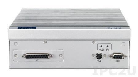 ITA-1610-S0A1E Встраиваемый компьютер c Intel Atom D525 1.8ГГц, 2ГБ DDR3, 2xVGA, 2GBexLAN, 6xUSB, 6xCOM, Audio,1xmPCIe,отсек для CF, 9-36 DC