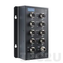 EKI-9508E-MPH-AE Управляемый коммутатор Ethernet, 8 портов M12, питание 72/96/110В DC, EN50155