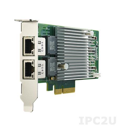 PCIE-2221NP-00A1E Сетевой адаптер 10G Ethernet, 2 порта RJ45, PCI Express x4 gen. 3, контроллер Intel X550-AT2