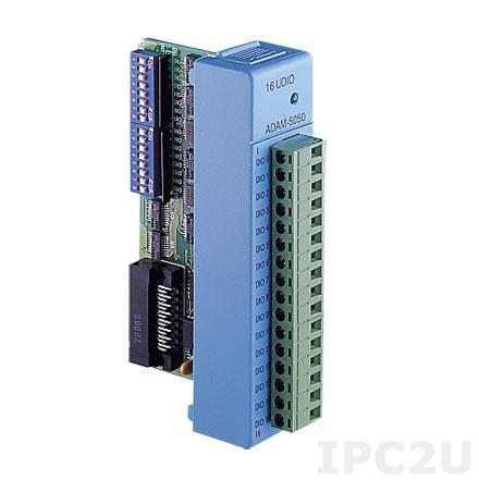 ADAM-5050-A2E Модуль ввода-вывода, 16 каналов дискретного ввода-вывода, настраиваемый