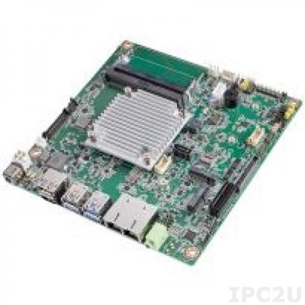 AIMB-218Z-S0A1E Процессорная плата Mini-ITX, Intel Atom x6413E 1.5ГГц, HDMI/DP/LVDS, 2xGbE LAN, 6xCOM, 3xUSB 3.2, 5xUSB 2.0, 1xSATA 3, 2xM.2, 1xPCIe, -20...+70C