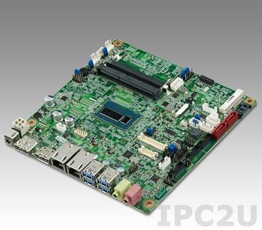 AIMB-230G2-U7A1E Процессорная плата Mini-ITX, Intel Core Haswell-ULT i7-4650U 1.7GHz, до 16Гб DDR3L SO-DIMM, BGA 1168, DP, HDMI, 2xGbe LAN, 3xSATA, 1xmSATA, 2xCOM, 4xUSB, слоты расширения 2xMini-PCIe