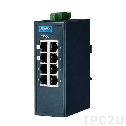 EKI-5528-MB-AE Управляемый коммутатор Ethernet, 8 портов Fast Ethernet RJ-45, поддержка Modbus/TCP