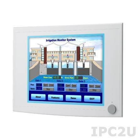 """FPM-5151G-R3BE Промышленный 15"""" TFT LCD LED монитор, 1024x768, яркость 400 нит, резистивный сенсорный экран (RS-232 & USB), VGA, DVI-D, питание 10-30В DC"""