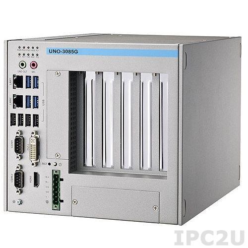 UNO-3085G-D44E Встраиваемый компьютер c CPU Intel i7-2655LE 2.2ГГц, 4ГБ DDR3 RAM, DVI-I, HDMI, 2xGB LAN, 2xRS-232/422/485, 2xRS-232 (опция), 2xPCIe x8, 3xPCI, 2xMiniPCIe
