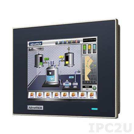 """FPM-7061T-R3AE Промышленный 6.5"""" TFT LCD монитор с IP66 по передней панели (алюминий), 640x480, резистивный сенсорный экран (USB), VGA, DP, питание 24В DC (Phoenix разъем)"""