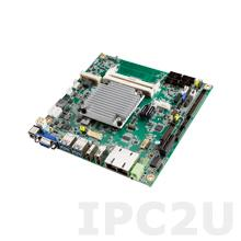 AIMB-217D-S6A1E Процессорная плата Mini-ITX Intel Pentium N4200 1.1ГГц, DDR3L SO-DIMM, VGA, HDMI, DP/LVDS, 2xGbe LAN, 2xSATA, 6xCOM, 4xUSB 3.0, 4xUSB 2.0, M.2, 1xMini-PCIe, 1xPCIe x1