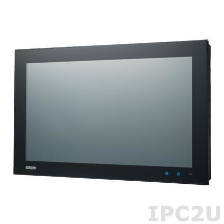 "PPC-4211W-P5AE Безвентиляторная панельная станция с 21.5"" Full HD TFT LCD LED, емкостный сенсорный экран, Intel Core i5-4300U 1.9ГГц, 1xSO-DIMM DDR3L, 2x2.5"" SATA HDD, 1xmSATA, 5xCOM, 5xUSB, VGA, DisplayPort, 2xLAN, 1xMiniPCIe, 1xPCIe x4, Аудио, питание 12-32В DC"