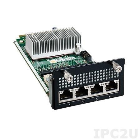 NMC-0107-04CBSA1 Коммуникационный модуль 4xGbE LAN Bypass, 1xPCIe x4, Thumbscrew type