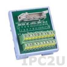 ADAM-3920-AE Плата клеммников с 20-контактным разъемом, монтаж на DIN рейку
