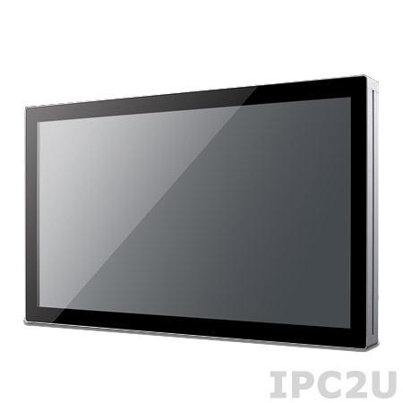 "UTC-515A-PE Панельная рабочая станция с 15.6"" WXGA TFT LCD, емкостный сенсорный экран, AMD T40E 1.0ГГц, 4Гб DDR3, 1x2.5"" SSD/HDD, CFast, VGA, HDMI, 3xCOM, 4xUSB 2.0, 2xLAN, Аудио, miniPCIe/mSATA, адаптер питания AC DC 12В 60Вт"