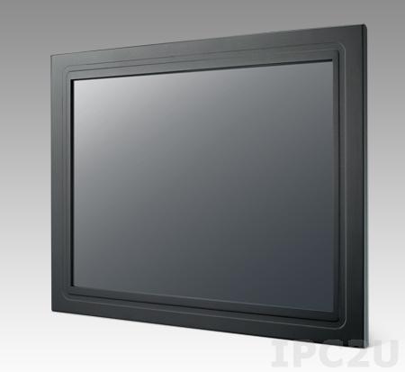 """IDS-3217ER-25SXA1E 17"""" LCD 1280 x 1024 монитор для монтажа в панель, SXGA, 250нит, резистивный сенсорный экран (USB/RS-232), VGA, DVI, вход питания 12В DC, экранное меню"""