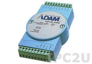 ADAM-4060-DE Модуль вывода, 4 канала дискретного вывода с реле, Modbus RTU/ASCII