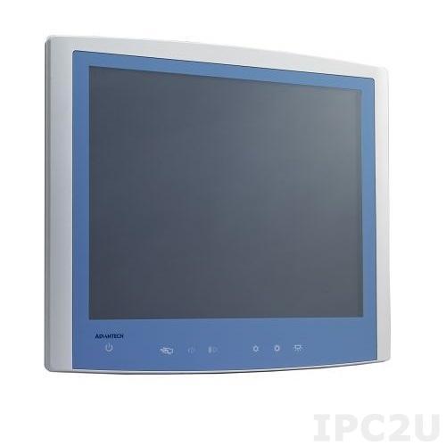 "POC-S198-25F-ATE Безвентиляторная медицинская рабочая станция 19"" TFT LCD, резистивный сенсорный экран, Intel Core i7-3555LE 2.5ГГц, DDR3-1600 SDRAM 16GB, 1x2.5""SATA,1xDVI-I VGA,2xCOM,4xUSB 2.0, 2xLAN, 1xMini PCIe, Аудио,Bluetooth,Адаптер питания 90-260В AC 100Вт"