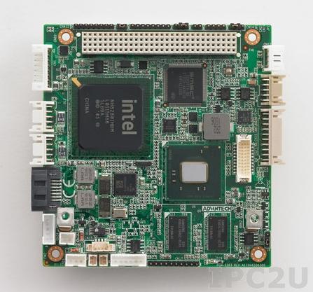 PCM-3363N-1GS6A1E PCI-104 процессорная плата с Intel Atom N455 1.66ГГц, 1Гб DDR3, VGA, LVDS, GB Ethernet, USB, COM, SATA