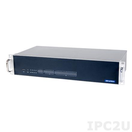 "ECU-4674-A53SAE Промышленный безвентиляторный компьютер 2U в 19"" стойку, Intel Atom N2600 1.6ГГц, 2Гб DDR3, 2x2.5"" SATA HDD, CF, VGA, 18xCOM, 8xGbE LAN, 5xUSB, 1xPCI-104"