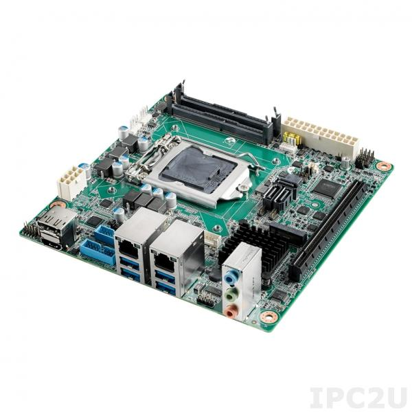 AIMB-277L-00A1E Процессорная плата Mini-ITX,Intel i9/i7/i5/i3 LGA1200 Mini-ITX w/ HDMI2.0a/DP/VGA/LVDS, Intel H420E, 2x260-pin DDR4 SO-DIMM, 2x COM, Dual LAN, 2 SATAIII, 4 USB3.2 Gen2, 4 USB3.2 Gen1, 2x M.2