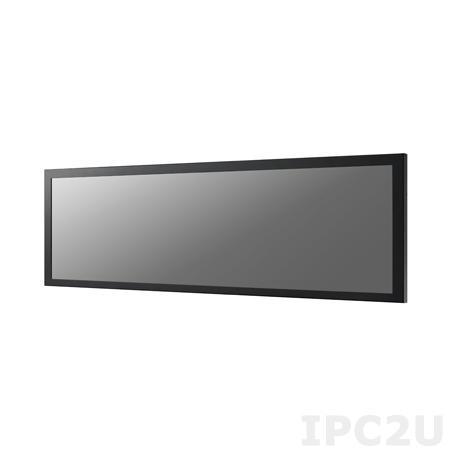 """DSD-5038N-80A1E Промышленный 38"""" LCD монитор с разрешением 1920 x 538, яркость 800нит, 16.7M цветов, контрастность 4000:1, VGAx1, DVI-Dx1, питание 24 В постоянного тока"""