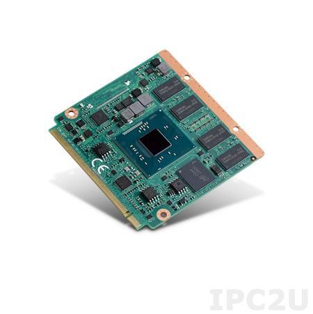 SOM-3567CS0C-S9A1E Процессорная плата Qseven на базе Intel Atom E3845 1.91 ГГц, 1xDDR3L до 8ГБ, 1xeMMC до 32 ГБ, 1xLAN, 3xPCIe, 7xUSB, LVDS/DDI (HDMI/DVI/DP), 2xCOM, 2xSATA3,LPC, SMBus, I2C Bus