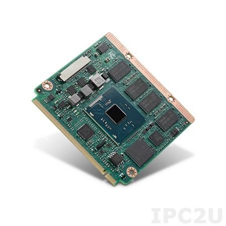SOM-3568BM0C-S5A1E Процессорная плата Qseven на базе Intel Celeron N3060 1.6ГГц, 1xDDR3L-1600 до 8GB, 1xeMMC до 32 ГБ, 1xLAN, 3xPCIe, 7xUSB, LVDS/DDI (HDMI/DP/DVI), 2xCOM, 2xSATA3, LPC