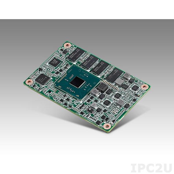 SOM-7568BM0C-S5A1E Процессорная плата COM Express Mini R2.1 на базе Intel Celeron N3060 1.6ГГц, 2Гб DDR3L RAM, LVDS/HDMI/DisplayPort, GB LAN, LPC, 2xUSB 3.0, 8xUSB 2.0, 3xPCIe x1, Audio