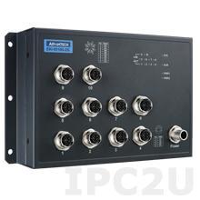 EKI-9510E-2GL-AE Неуправляемый коммутатор Ethernet, 10 портов M12, питание 24/48В DC, EN50155