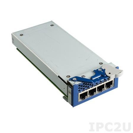 NMC-0121-000110E Модуль 4 порта Gigabit Ethernet, разъемы RJ45