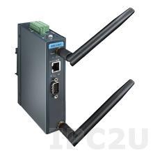 EKI-1361-AE Преобразователь последовательных интерфейсов, 1xRS-232/422/485 разъем DB9 male, Wi-Fi 802.11a/b/g/n, 1xLAN