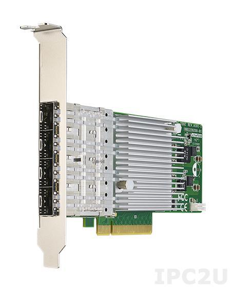 PCIE-2230NP-00A1E Сетевой адаптер 10GbE Ethernet, 4 порта SFP+, контроллер Intel XL710-BM1, PCI Express x8 gen. 3, низкопрофильный