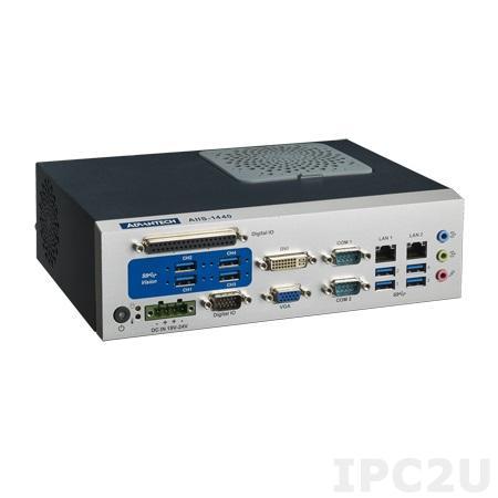 "AIIS-1440-00A1E Компактный компьютер с сокетом LGA1155 для Intel Core i3/i5/i7, чипсет Intel H61, DDR3, 2xGB LAN, 4xUSB 3.0, 4xUSB 2.0, CFast, отсек 1xSATA 2.5"""