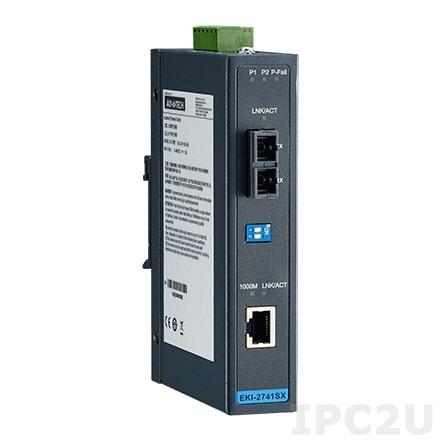 EKI-2741LXI-BE Конвертер интерфейса GbE в оптоволокно, -40...+75C