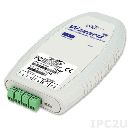 WCD1TD2 Беспроводной модуль ввода-вывода, 3 канала аналогового ввода SmartMesh 802.15.4e, Bluetooth, встроенная антенна