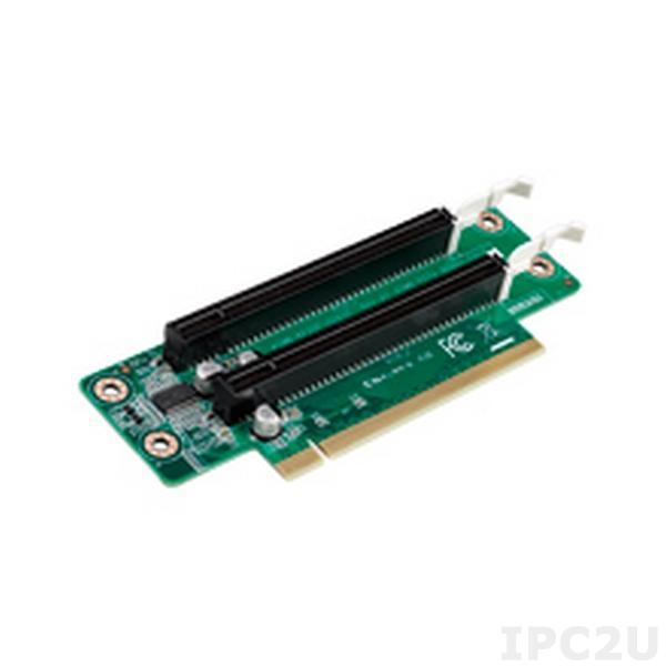 AIMB-RF20F-02A1E Объединительная Riser плата 2U PCIe x16 - 2 PCIe x16 (сигнал PCIe x8)