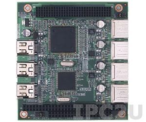 PCM-3620P-00A1E PC/104+ адаптер интерфейсов 4xUSB 2.0, 3xIEEE1394a w/pinhead
