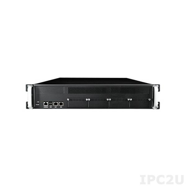 """FWA-6520L-00E Сервер сетевой безопасности 2U, поддержка 1x Intel Xeon E5-2600/E5-1600 v3/v4, чипсет Intel C612, до 256Гб DDR4 DIMM, 2xLAN, до 4xNMC, 4x3.5"""" HDD внутренние, 1 x PCIe x8, источник питания 500Вт (1+1 резервированный)"""