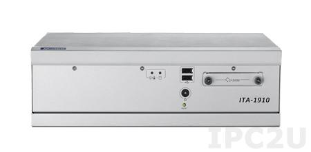 ITA-1910-01A1E Встраиваемый компьютер c Intel Atom D525 1.8ГГц, 2ГБ DDR3, 2xVGA, 2GBexLAN, 8xUSB, 12xGPI, 12xGPO,16xCOM, Audio,1xPCI,1xmPCIe,отсек для CF, 9-36 DC