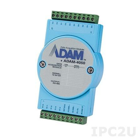 ADAM-4050-DE Модуль ввода-вывода, 7 каналов дискретного ввода, 8 каналов дискретного вывода, Modbus ASCII