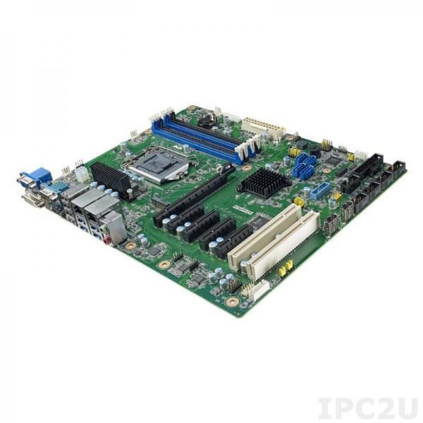 AIMB-787G2-00A1 Процессорная плата ATX, сокет LGA1200 для Intel Gen 10 Core i3/i5/i7/Pentium/Celeron, DDR4, DP/DVI-D/VGA, 2xGbE LAN, 6xCOM, 6xUSB 3.2, 4xUSB 2.0, GPIO, 4xSATA 3, SATA RAID 0,1,5,10, M.2 M-key 2280, Audio