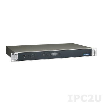 "ECU-4574-A53SAE Промышленный безвентиляторный компьютер 1U в 19"" стойку, Intel Atom N2600 1.6ГГц, 2Гб DDR3, 2.5"" SATA HDD, CF, VGA, 10xCOM, 8xGbE LAN, 4xUSB"