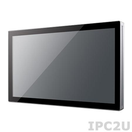 "UTC-520E-RE Панельная рабочая станция с 21.5"" FHD TFT LCD, Intel Core i5-4300U 1.9ГГц, резистивный сенсорный экран, 4Гб DDR3, 1x2.5"" HDD, VGA, HDMI, 2xCOM, 4xUSB, 2xLAN, Аудио, miniPCIe/mSATA, адаптер питания AC DC 12В 84Вт"