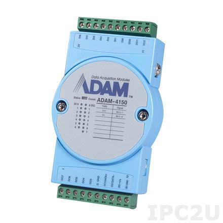 ADAM-4150-B Модуль ввода-вывода, 7 каналов дискретного ввода, 8 каналов дискретного вывода, Modbus RTU/ASCII