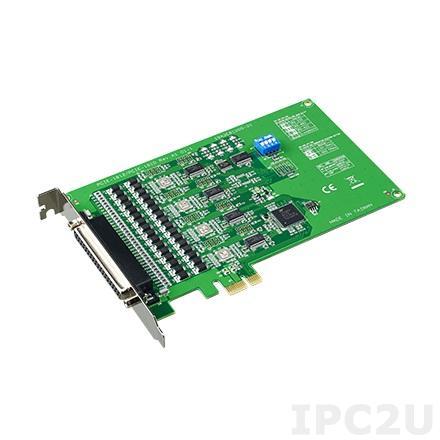 PCIE-1610B-AE PCI Express x1 адаптер 4xRS-232 разъем DB37 Female, c защитой от перенапряжения, OPT4A кабель 1xDB37 в 4xDB9 Male